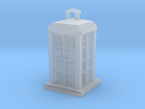 Police Box Pendant in Smooth Fine Detail Plastic