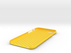 Iphone 6 honeycomb case in Yellow Strong & Flexible Polished