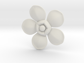 Flower in White Natural Versatile Plastic