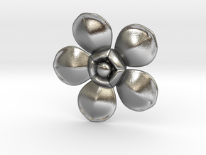 Flower in Natural Silver