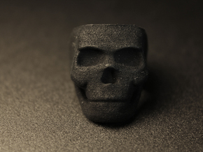 Skull Ring Size 7.25 in Black Natural Versatile Plastic