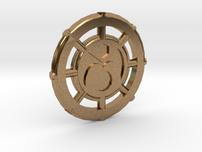 Ions Coin in Natural Brass