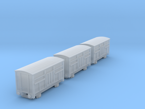 T-gauge 3 Cattlevans  - Custom Wheels, see descrip in Smooth Fine Detail Plastic