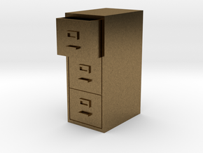 Single Filing Cabinet in Natural Bronze