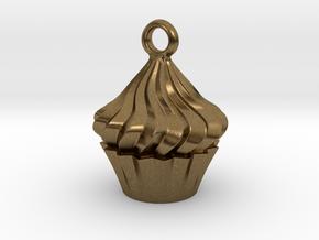 Cupcake Pendant in Natural Bronze