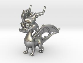 Spyro the Dragon Pendant/charm in Natural Silver