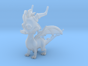 Spyro the Dragon Pendant/charm in Smooth Fine Detail Plastic