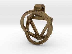 HIDDEN HEARTS PENDANT OPEN in Natural Bronze