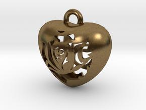 Love Pendant  in Natural Bronze