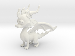 Spyro the Dragon in White Natural Versatile Plastic