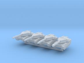 1/285 Mobarez Main Battle Tank (x4) in Smooth Fine Detail Plastic