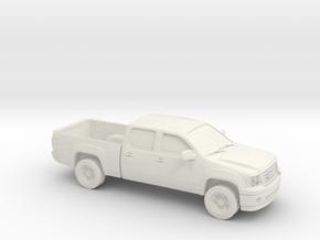 1/87 2010 GMC Sierra in White Natural Versatile Plastic