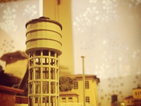 N Scale Water Tower FS in White Strong & Flexible