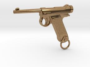 Nambu Gun in Natural Brass