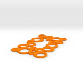 Decorative Switch plate in Orange Processed Versatile Plastic
