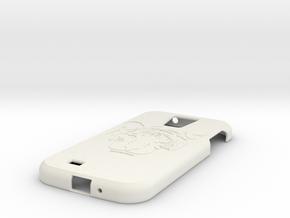 Samsung S4 Tiger  in White Natural Versatile Plastic