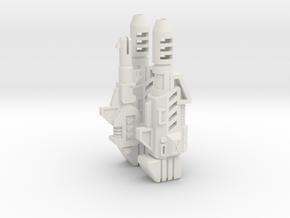 Aerial Guardian Weapons Set in White Natural Versatile Plastic