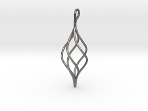 Helical Basket Pendant in Polished Nickel Steel