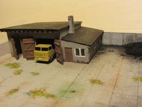 LKW-Garage (Z, 1:220) in White Natural Versatile Plastic