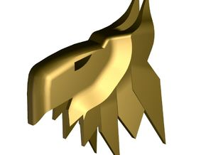 gryphon in Polished Gold Steel