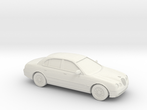1/87 1998 Jaguar S Type in White Strong & Flexible