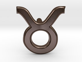 Taurus Earring in Polished Bronze Steel