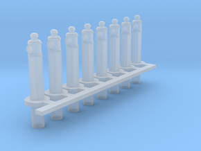Clearance Posts with Lamps HO X 8 in Smooth Fine Detail Plastic