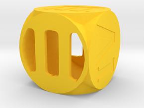 Dice137 in Yellow Processed Versatile Plastic