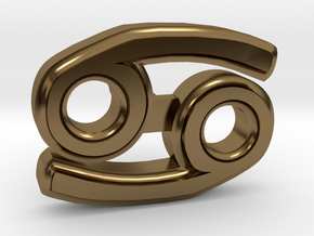 Cancer Ear Ring in Polished Bronze