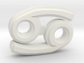 Cancer Ear Ring in White Natural Versatile Plastic