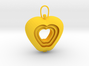 Apple for a rainy day (Pendant) in Yellow Processed Versatile Plastic