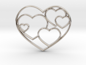 Heart Necklace Sm in Platinum