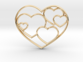 Heart Necklace Sm in 14K Yellow Gold