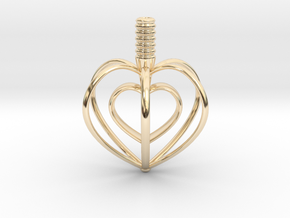 Heart Top in 14K Yellow Gold