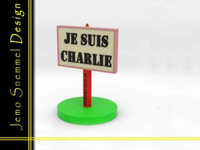 Plate Je Suis Charlie in Full Color Sandstone