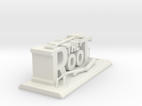 The Root - Desk Sculpture  in White Natural Versatile Plastic