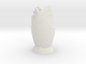 Tulip Vase in White Natural Versatile Plastic