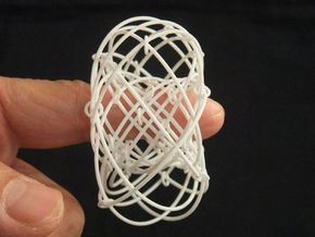 Torus Magic (50mm) in White Natural Versatile Plastic