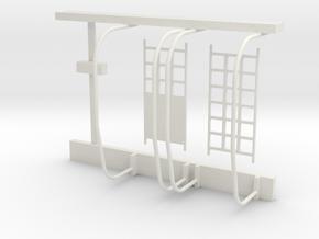 04-J mission - Quad 3 Support in White Natural Versatile Plastic