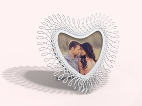 Heart Frame in White Natural Versatile Plastic