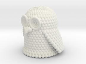 Pondering Owl in White Natural Versatile Plastic