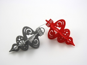 3-Tiered 3D Ornament in Red Processed Versatile Plastic