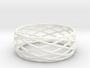 Small bangle in White Processed Versatile Plastic