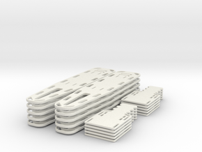 1/24 scale Spine Board Set (10 ea full and half) in White Strong & Flexible