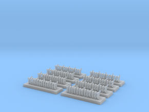 6mm Barbed Wire Obstacles (x8) in Smooth Fine Detail Plastic