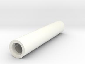 Astromech Leg Strut 01 in White Strong & Flexible Polished
