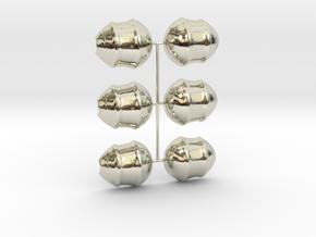 3 Parts Model in 14k White Gold