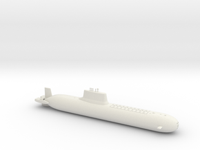 1/700 Typhoon Class SSBN in White Natural Versatile Plastic
