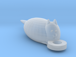 Fluffy The Cat in Smooth Fine Detail Plastic