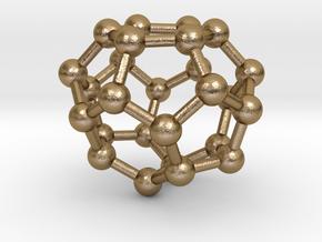 0003 Fullerene c26 d3h in Polished Gold Steel
